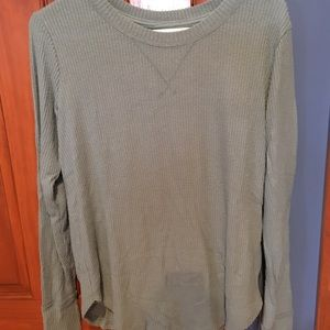 Teal blue/green thermal knit top